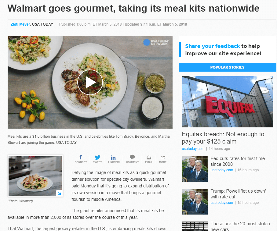 Will Walmart or Amazon Start a Meal Kit Service in Canada?